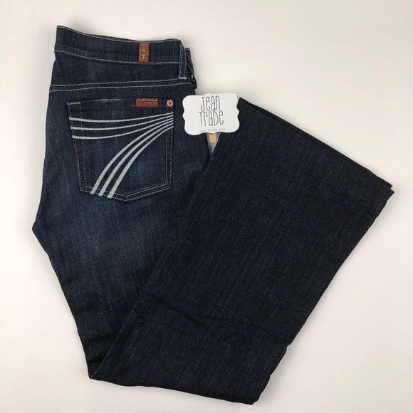 7 for all Mankind Denim - 7 for all mankind dojo flare jeans 28x28.5